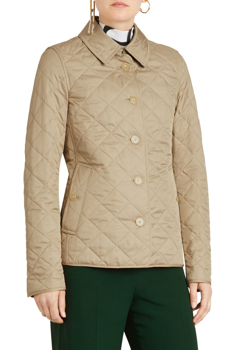 BURBERRY Frankby 18 Quilted Jacket, Main, color, 250