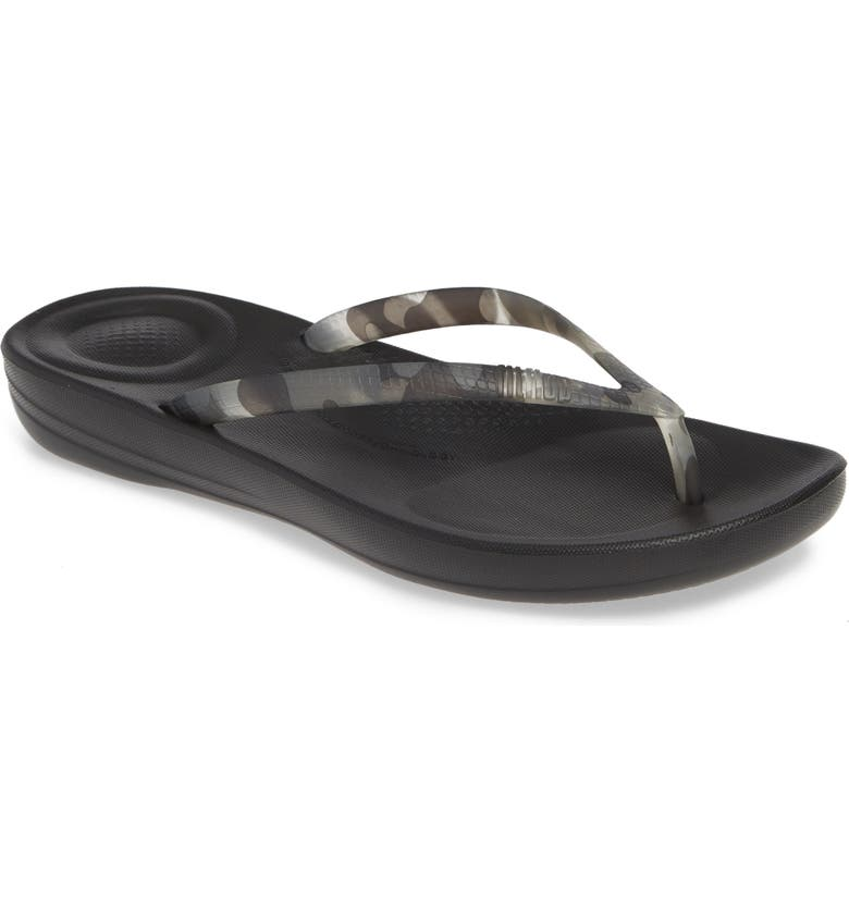FITFLOP iQushion Flip Flop, Main, color, BLACK TORTOISESHELL