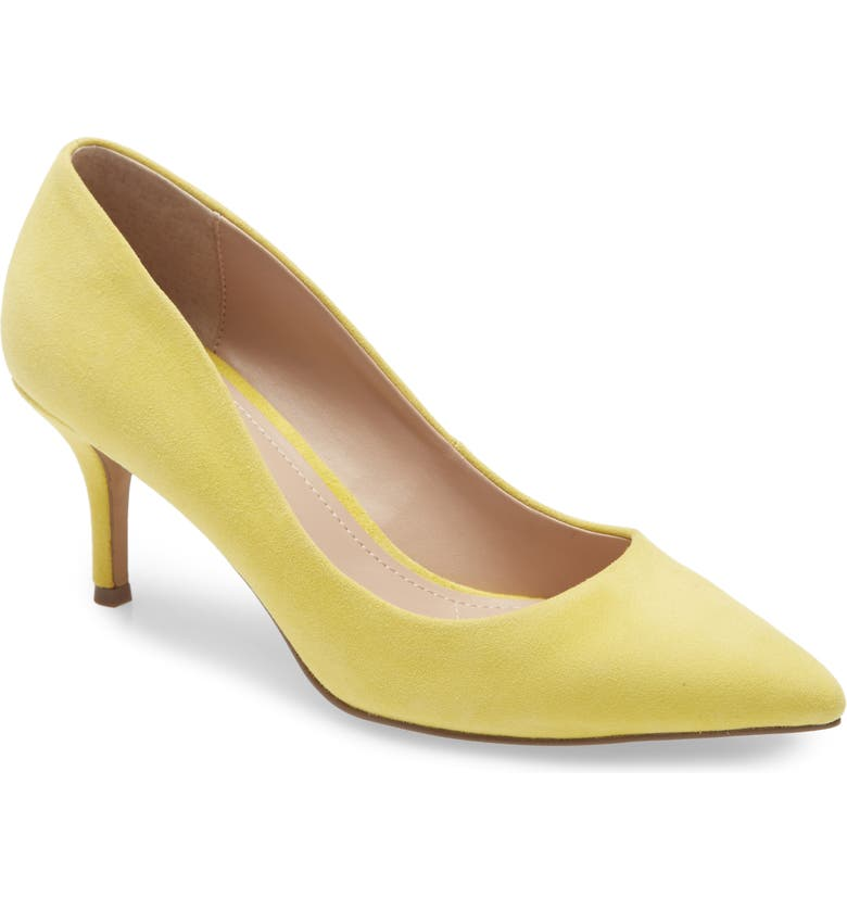 CHARLES BY CHARLES DAVID Addie Pump, Main, color, LIGHT YELLOW SUEDE