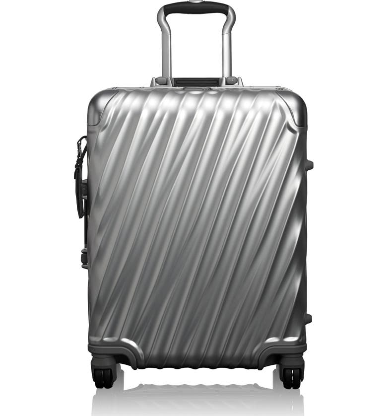 TUMI 19 Degree 22-Inch Continental Wheeled Aluminum Carry-On, Main, color, SILVER