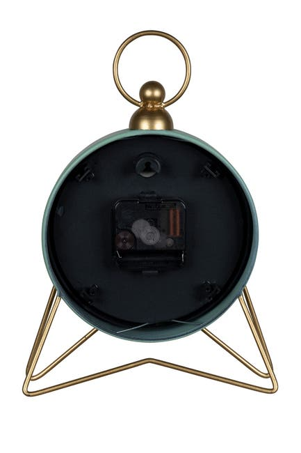 Image of Stratton Home Spencer Green Table Top Clock
