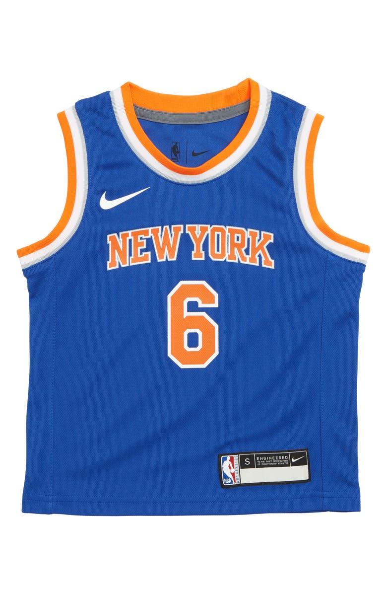 promo code 4dbad f851a Nike New York Knicks Kristaps Porzingis Basketball Jersey ...