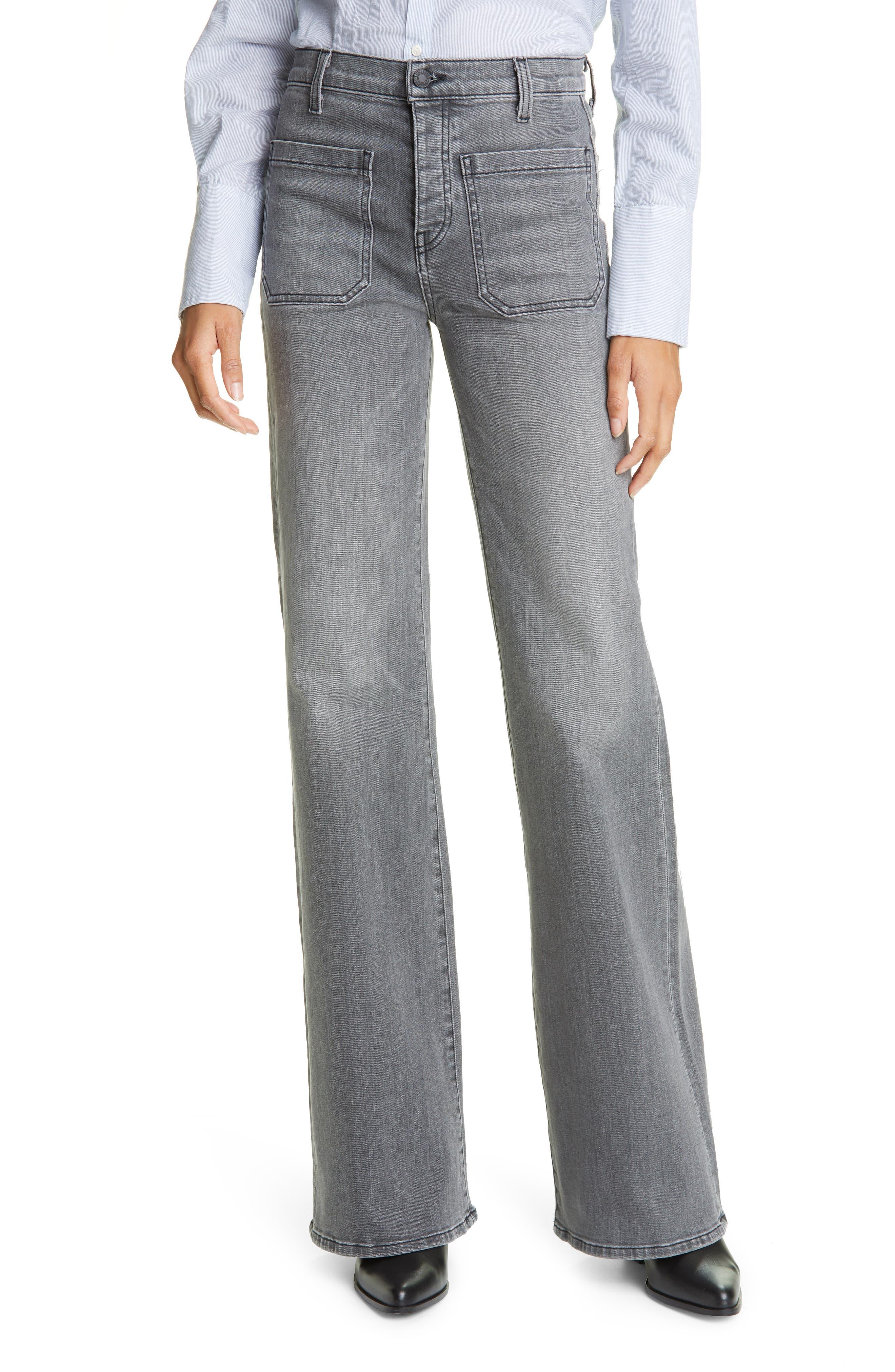 Women's Nili Lotan Florence Patch Pocket Jeans