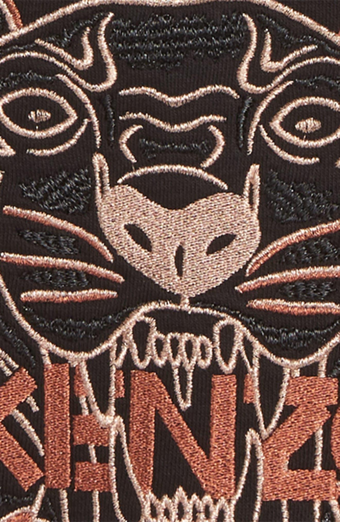 ,                             Tiger Embroidered Sweatshirt,                             Alternate thumbnail 2, color,                             BLACK