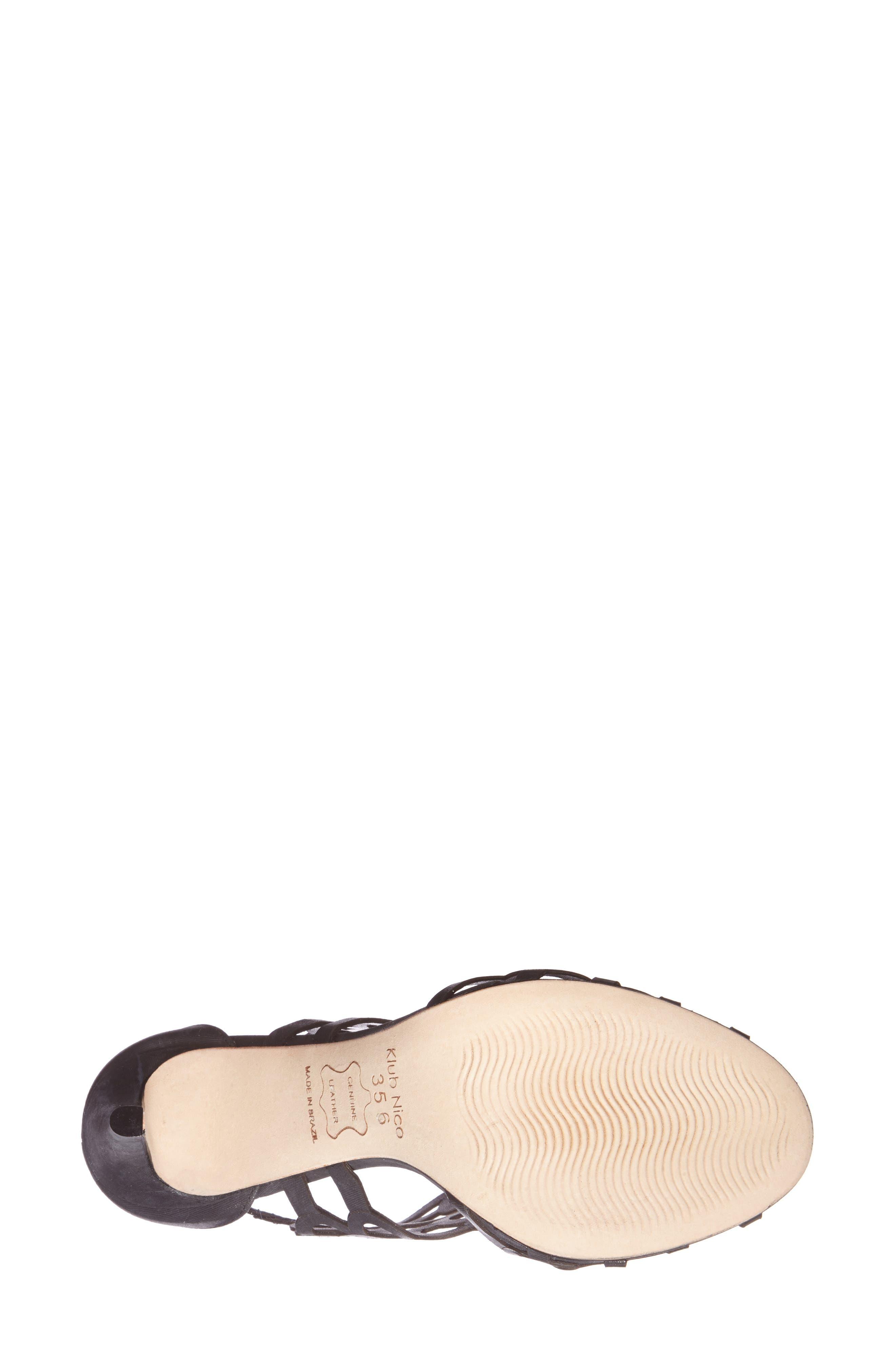 ,                             'Millie' Cutout Sandal,                             Alternate thumbnail 2, color,                             BLACK