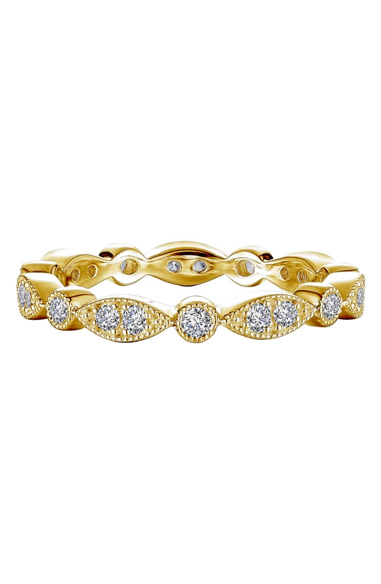 LAFONN Wave Simulated Diamond Eternity Band, Main, color, GOLD/CLEAR