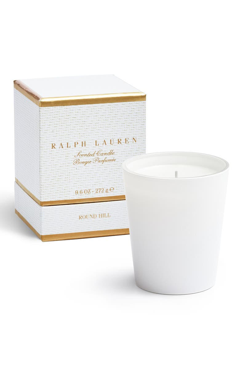 RALPH LAUREN Round Hill Single Wick Scented Candle, Main, color, WHITE