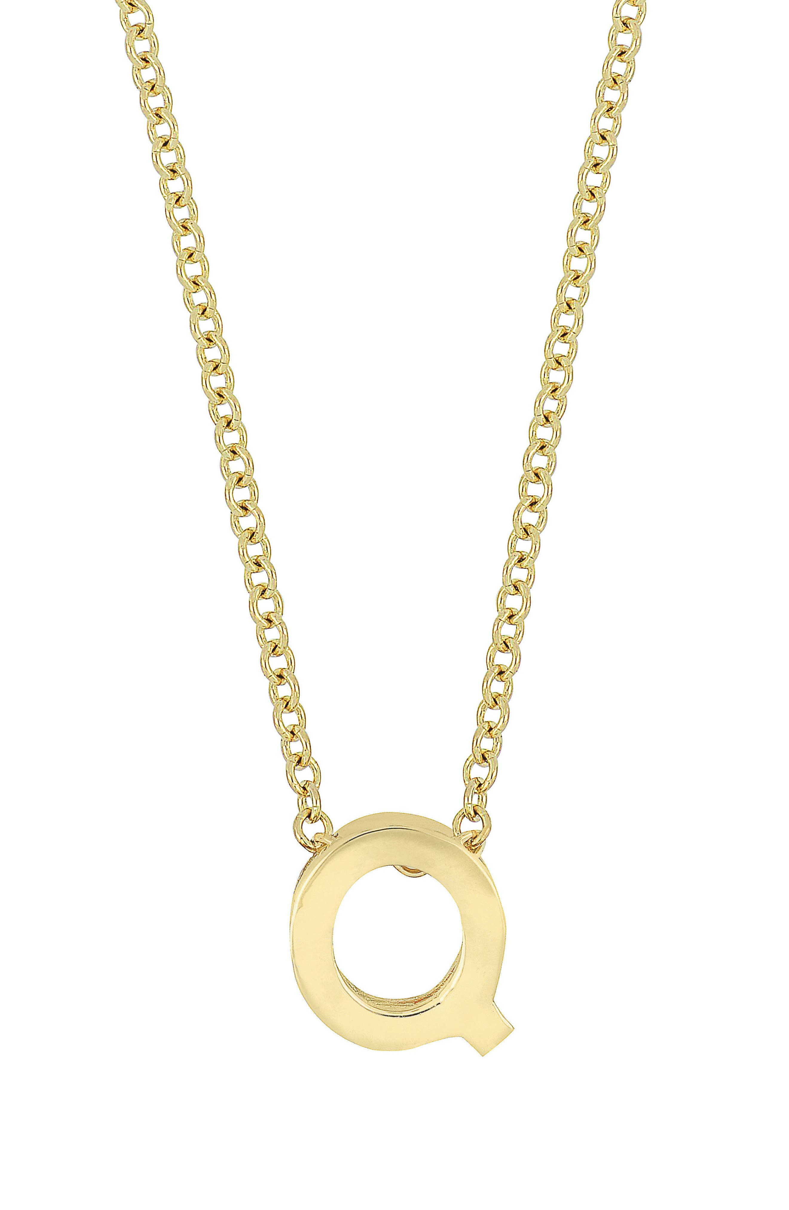 14K Gold Initial Pendant Necklace