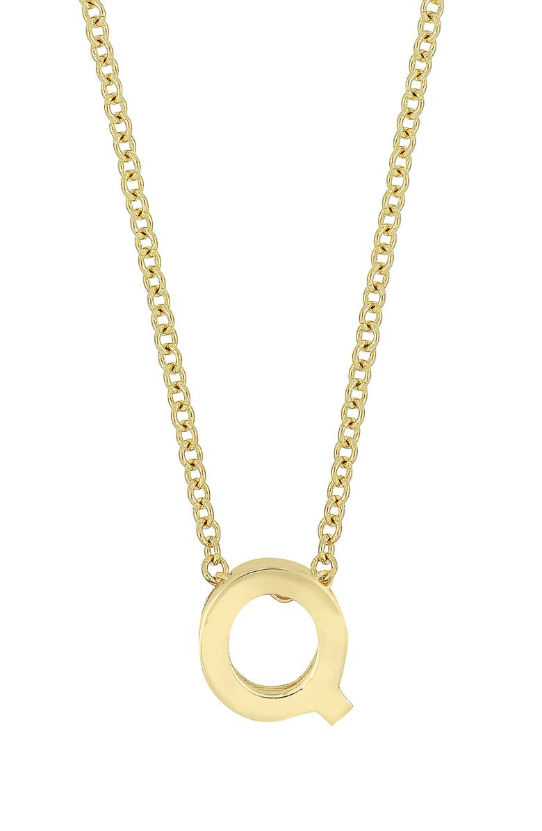 BONY LEVY 14K Gold Initial Pendant Necklace, Main, color, YELLOW GOLD- Q