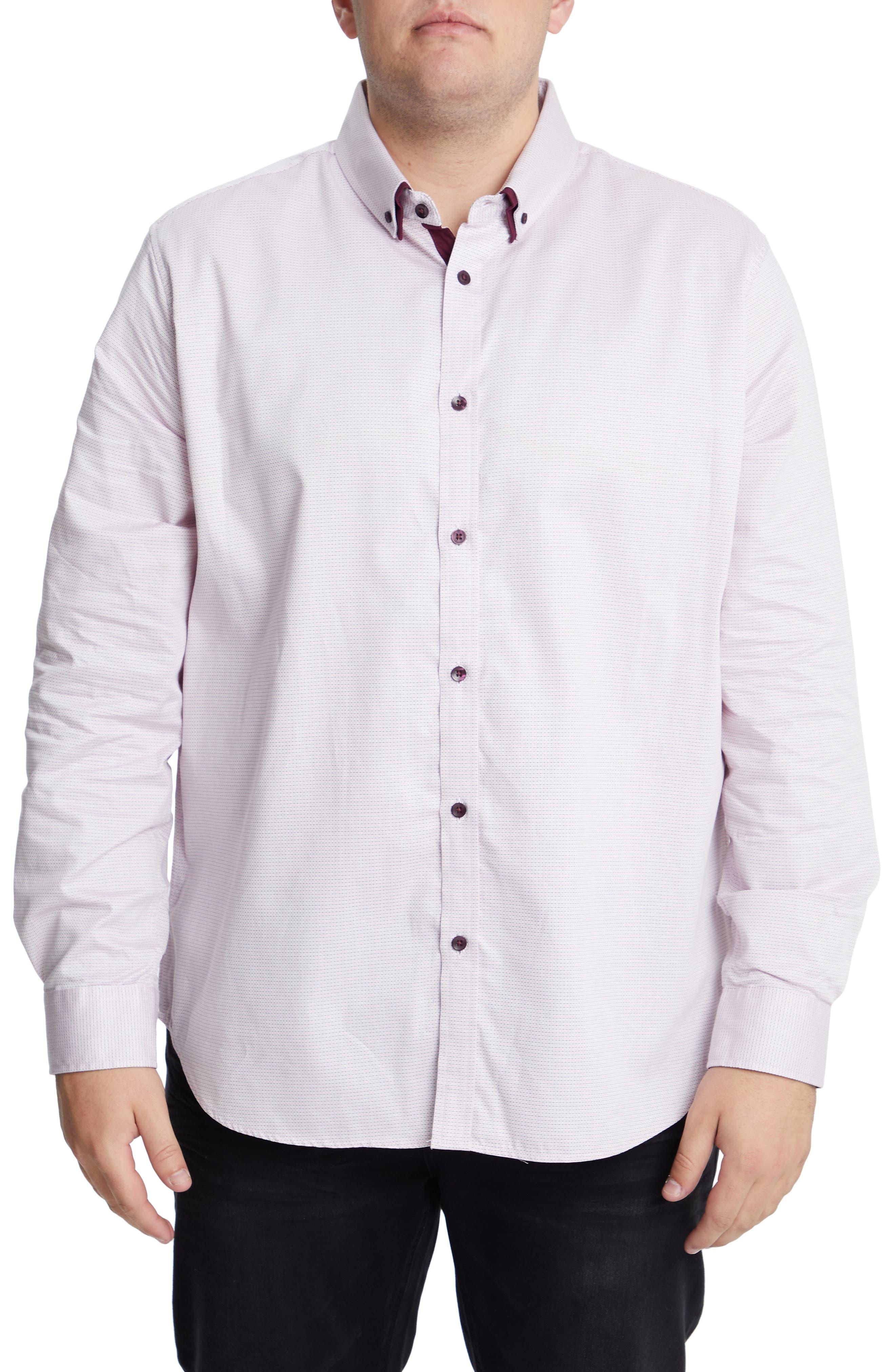 Men's Big & Tall Johnny Bigg Marlon Stretch Jacquard Button-Down Shirt