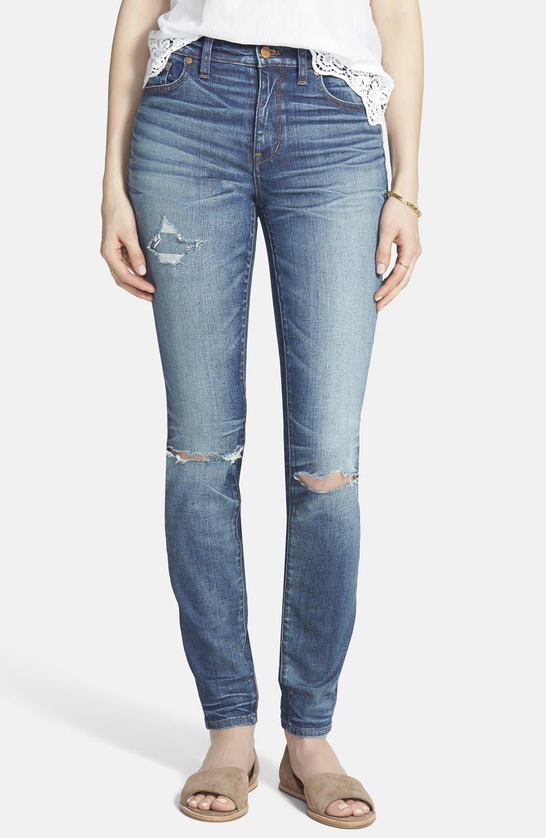 ,                             High Rise Skinny Jeans,                             Main thumbnail 1, color,                             400
