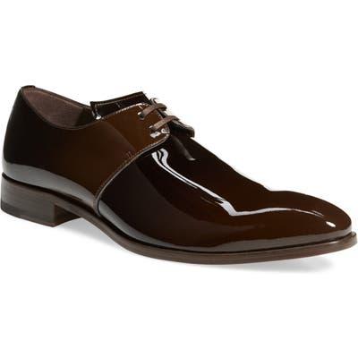 Mezlan Chopin Plain Toe Derby- Brown