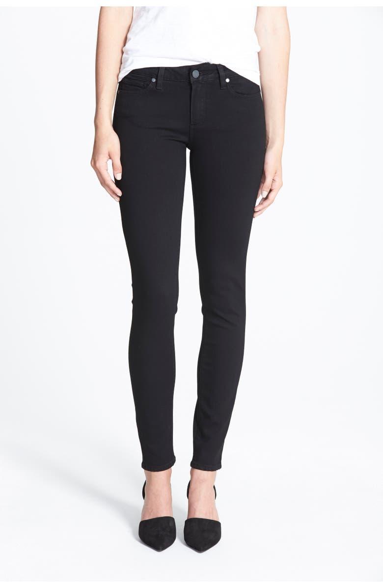 PAIGE Transcend - Verdugo Ultra Skinny Jeans, Main, color, BLACK SHADOW