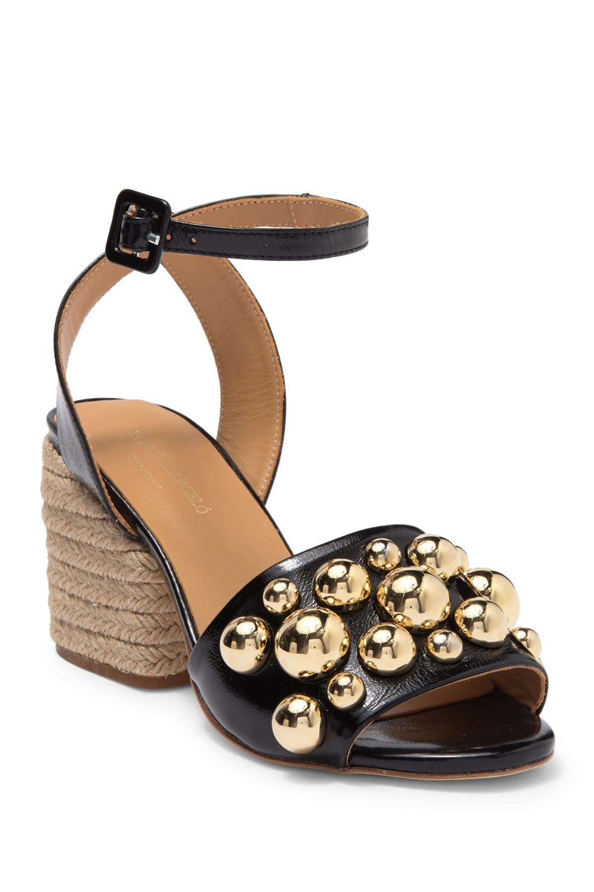 Image of Paloma Barcelo Uma Studded Leather Espadrille Sandal