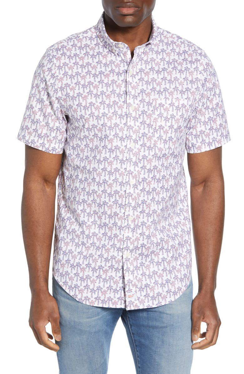 Vineyard Vines Murray Slim Fit Mini Palm Shirt