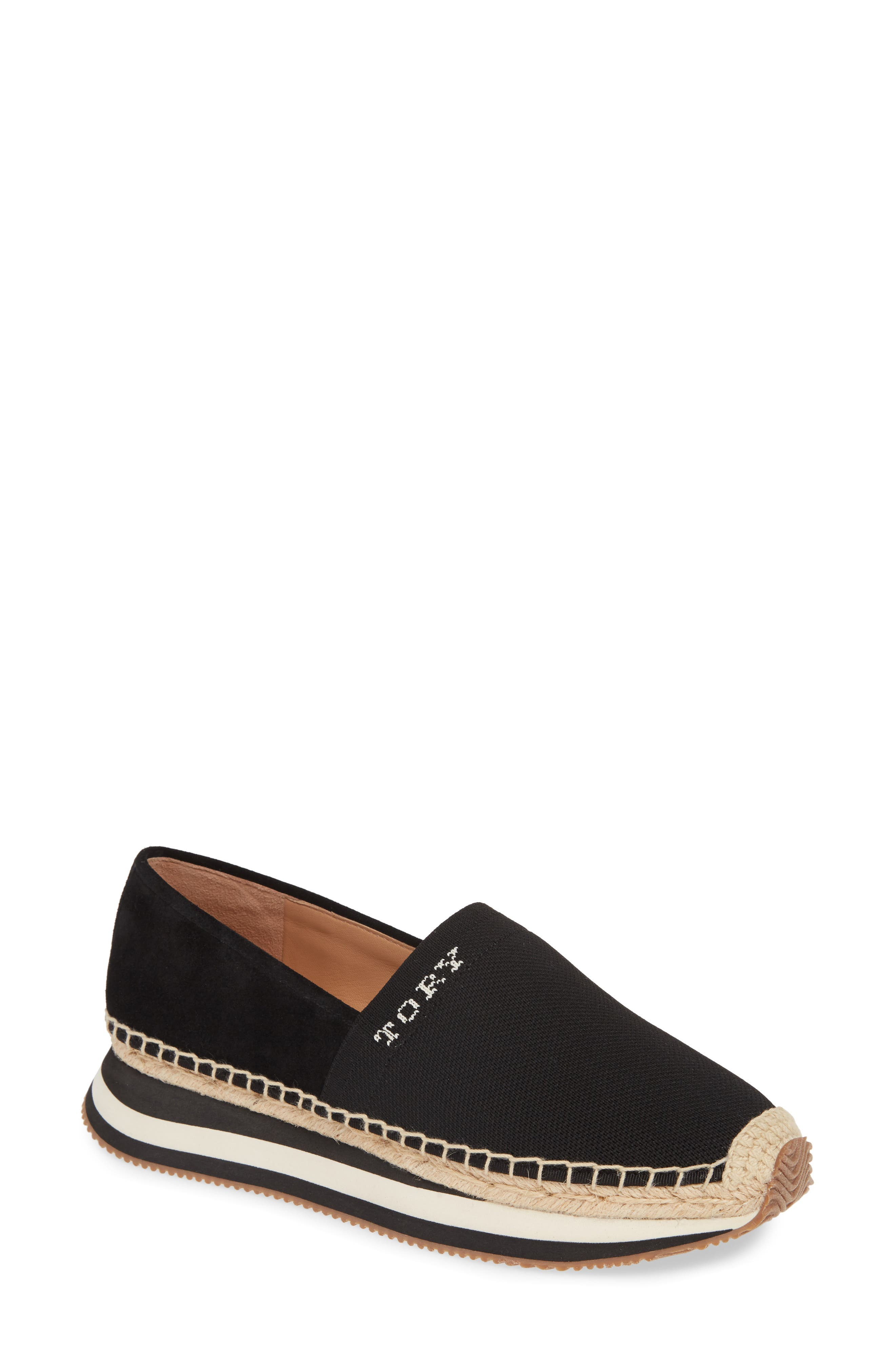 Tory Burch Daisy Logo Espadrille Sneaker- Black