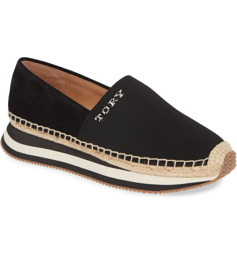 TORY BURCH Daisy Logo Espadrille Sneaker, Main, color, PERFECT BLACK / PERFECT BLACK