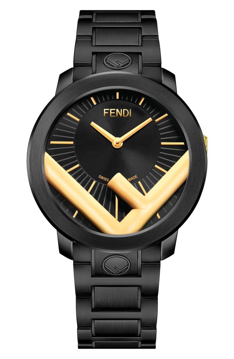 FENDI Run Away Bracelet Watch, 41mm, Main, color, 001