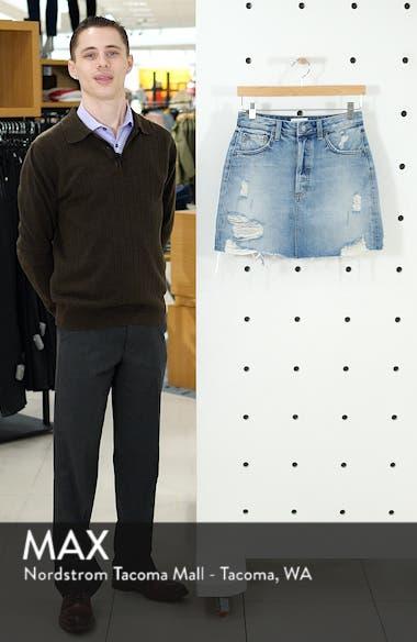 The Corey Frayed Denim Miniskirt, sales video thumbnail