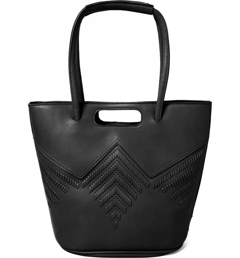 URBAN ORIGINALS Style Vegan Leather Tote Bag, Main, color, BLACK