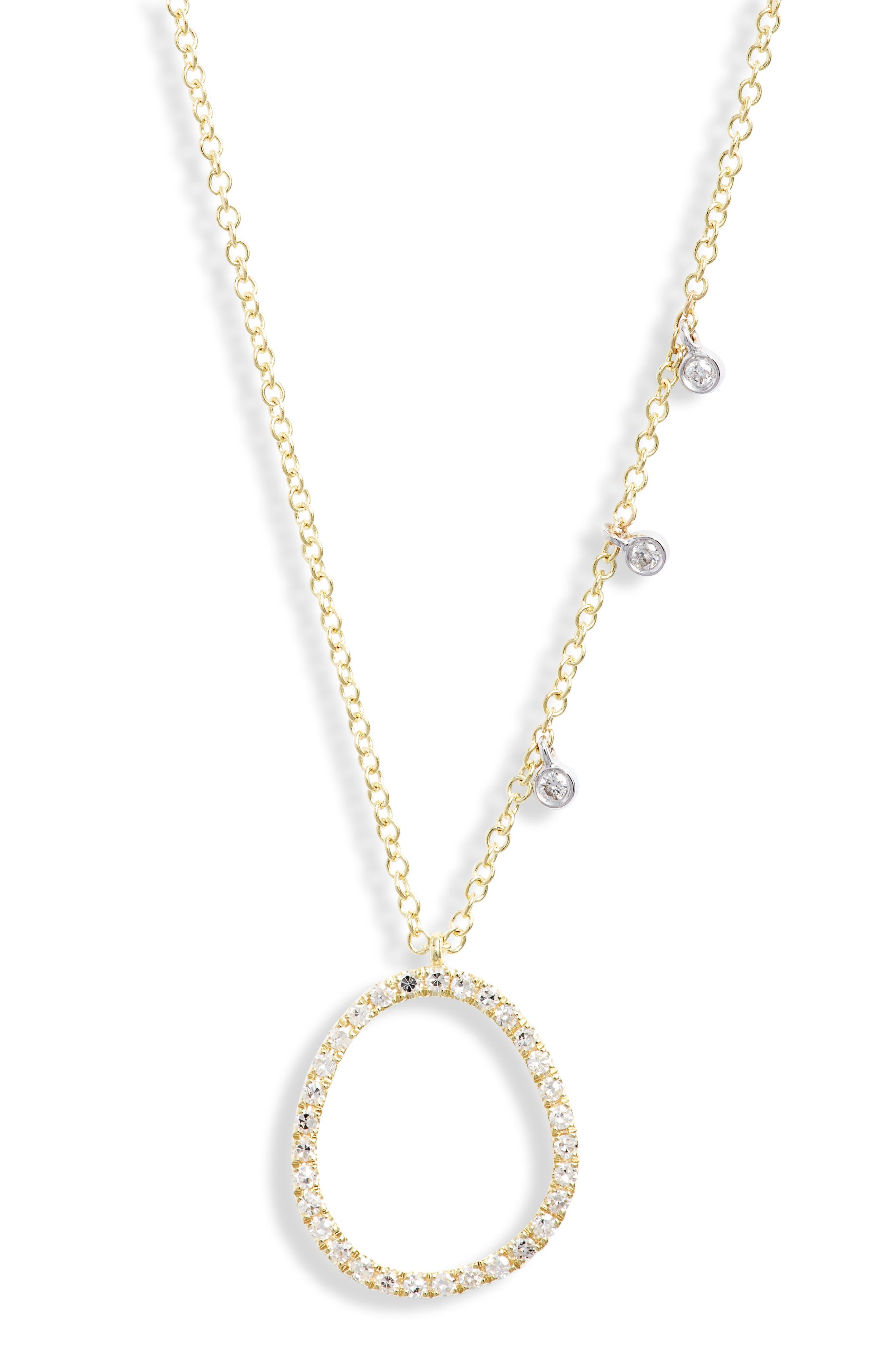 Women's Meira T Open Pendant Diamond Necklace -  N12035/Y