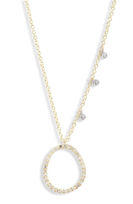 Meira T Open Pendant Diamond Necklace In Yellow Gold/ Diamond