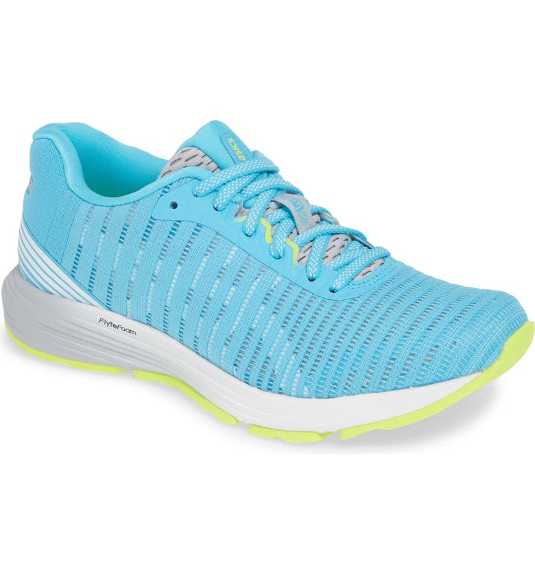 ASICS<SUP>®</SUP> DynaFlyte 3 Running Shoe, Main, color, AQUARIUM/ WHITE