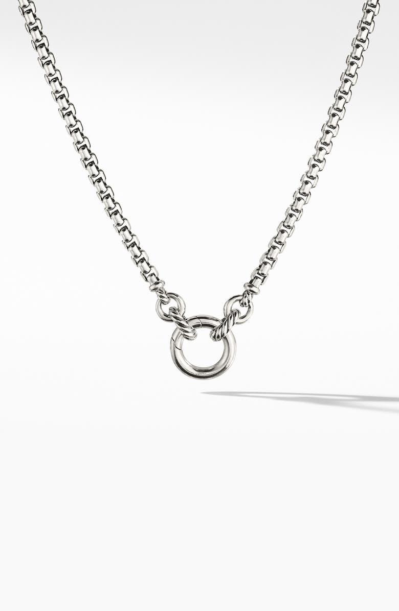 DAVID YURMAN Amulet Vehicle Box Chain Necklace, Main, color, SILVER