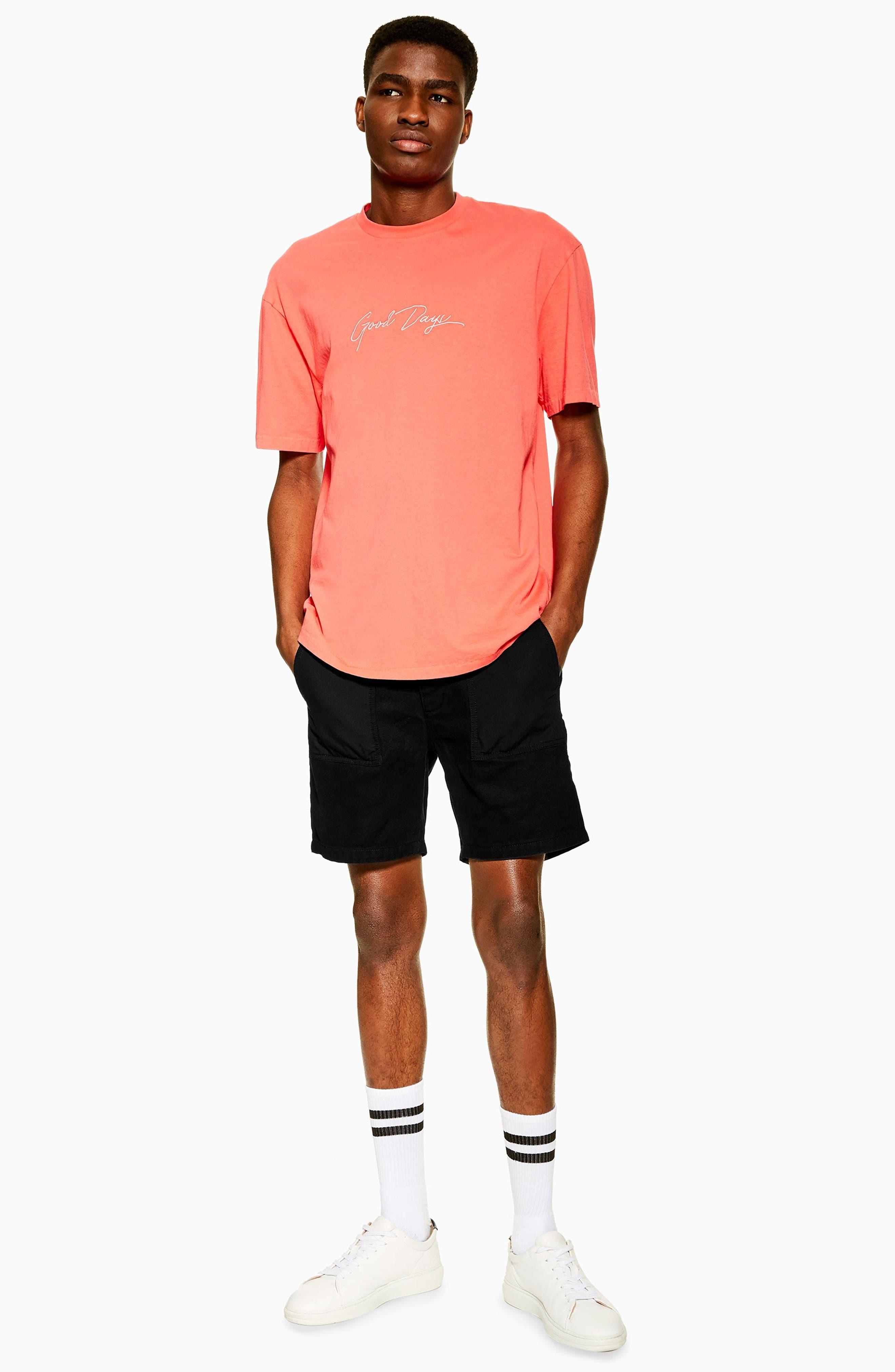 ,                             Slim Fit Utility Shorts,                             Alternate thumbnail 5, color,                             BLACK
