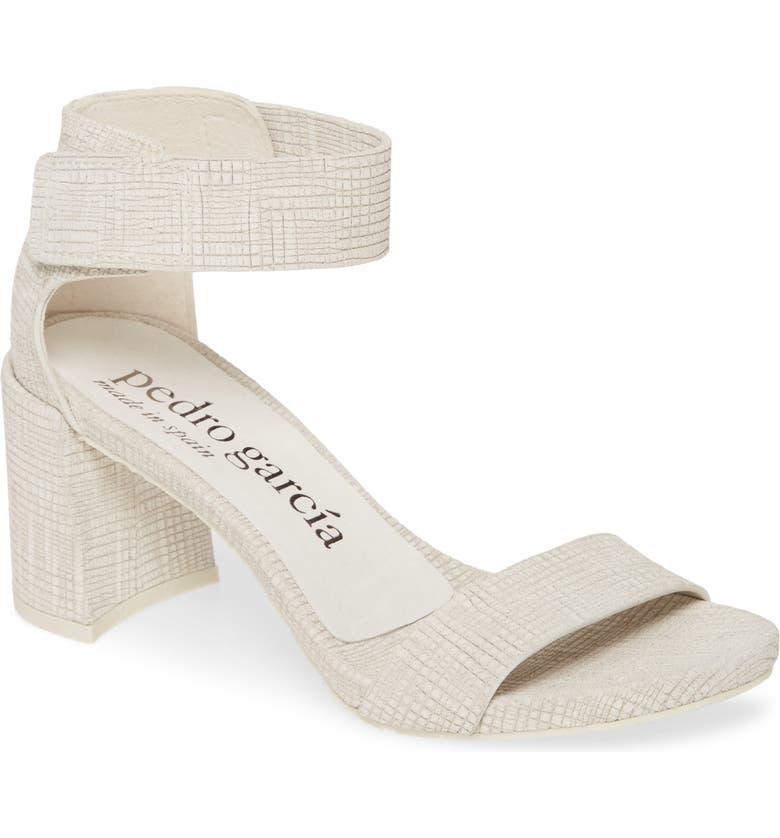 PEDRO GARCIA Wenna Ankle Cuff Sandal, Main, color, CHALK BURLAP