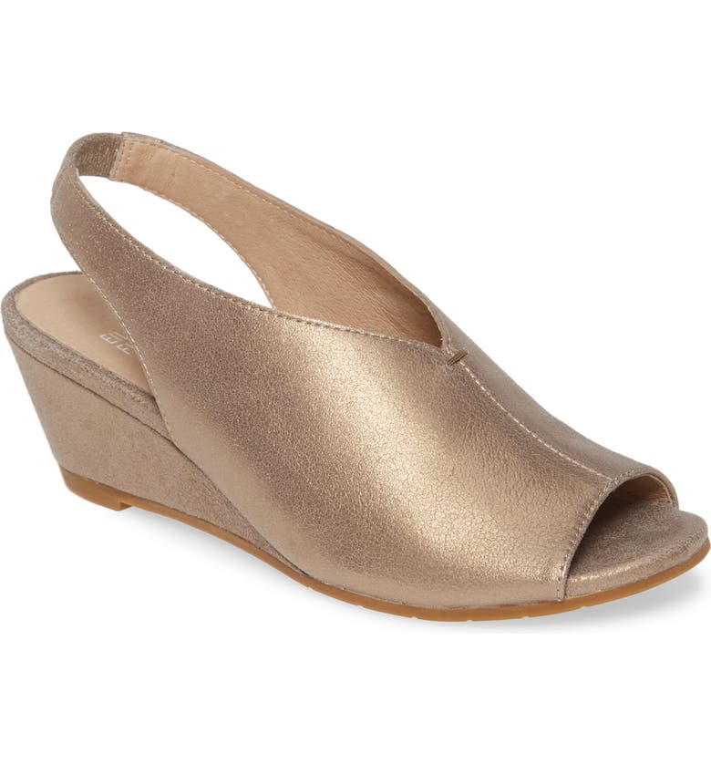 EILEEN FISHER Clay Slingback Wedge Sandal, Main, color, 040