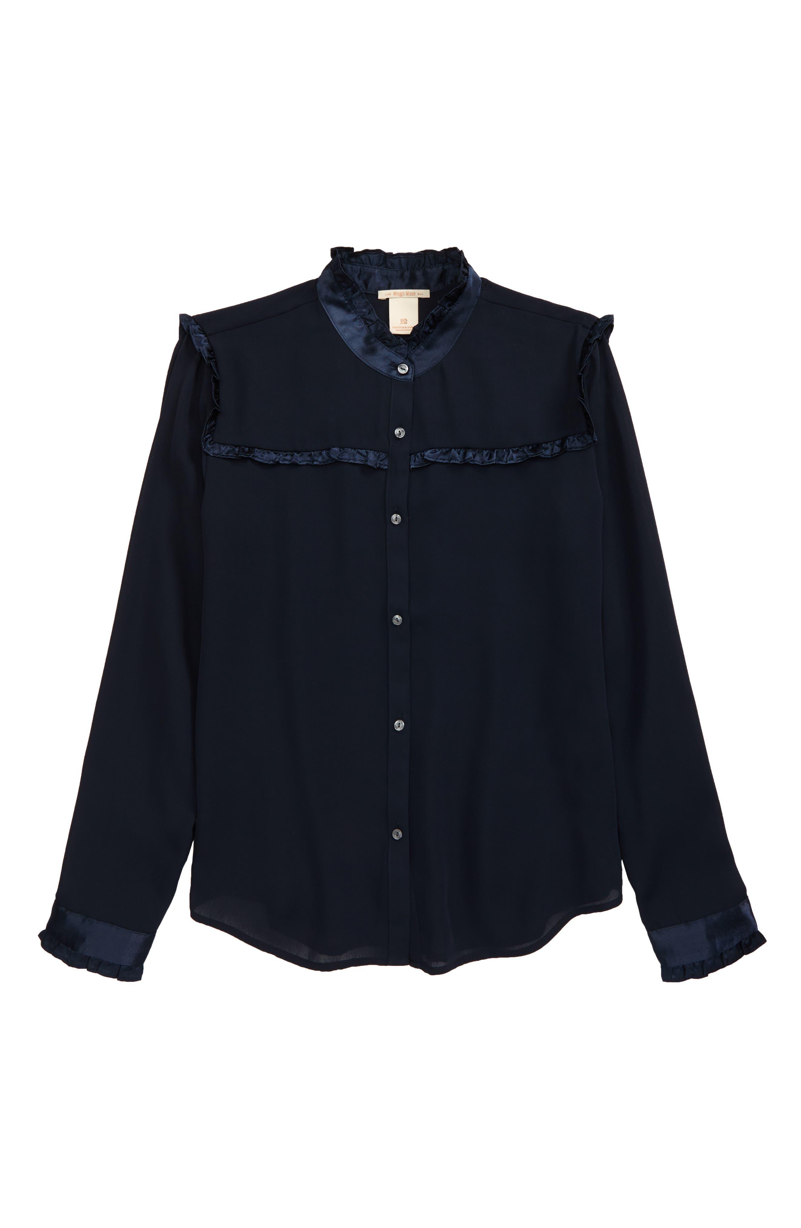 Image of Scotch R'Belle Kids' Ruffle Button-Up Shirt