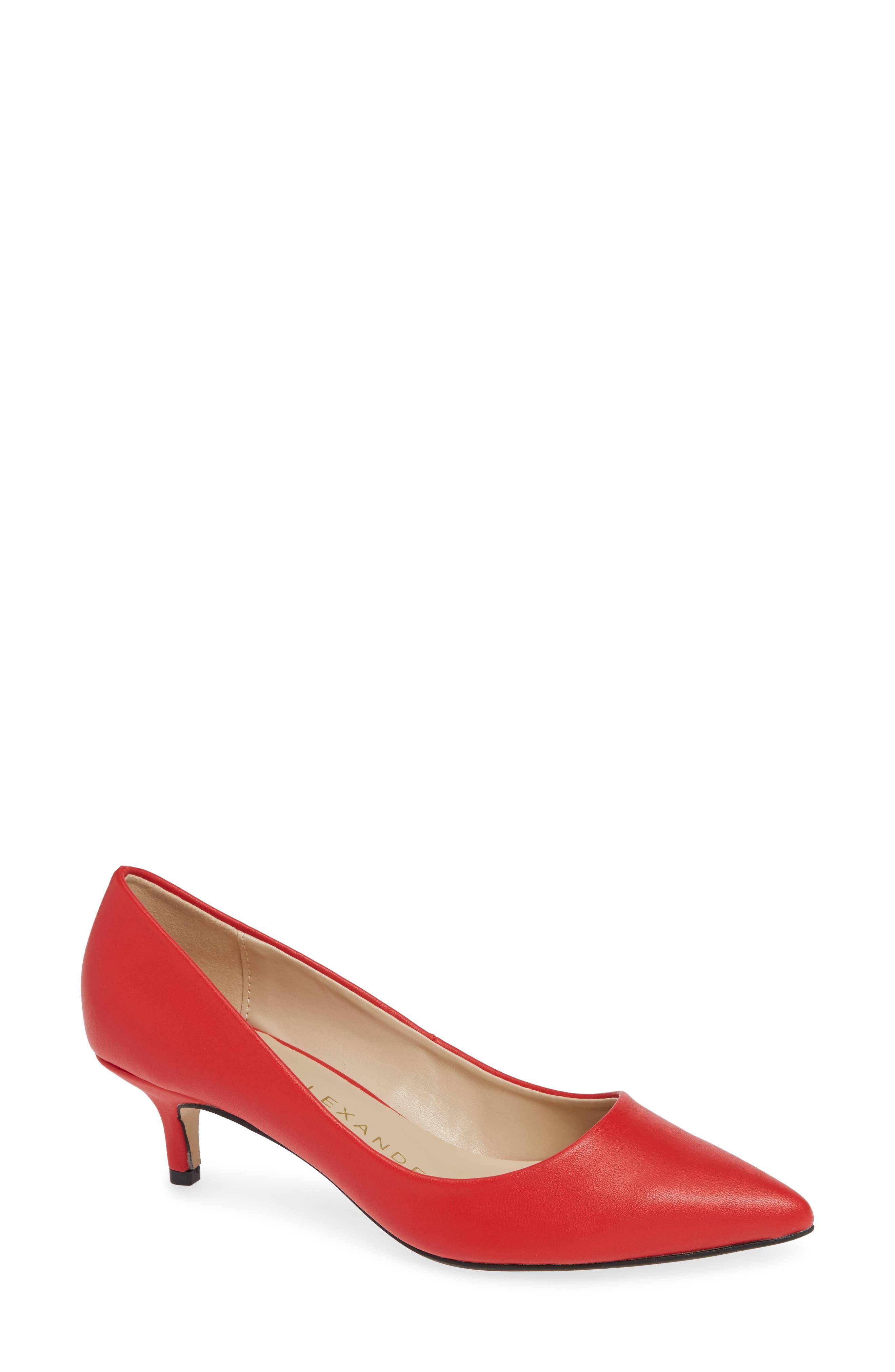 Athena Alexander Target Kitten Heel Pump- Red