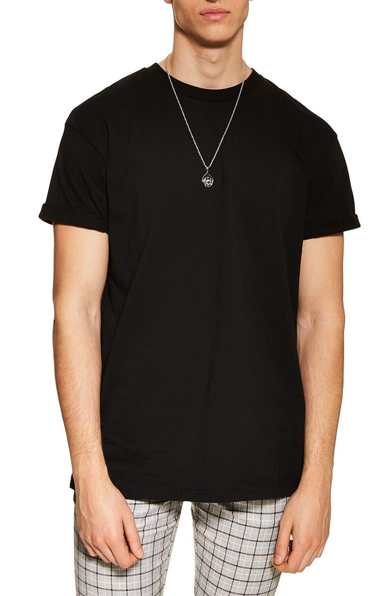 TOPMAN Oversize Fit T-Shirt, Main, color, BLACK
