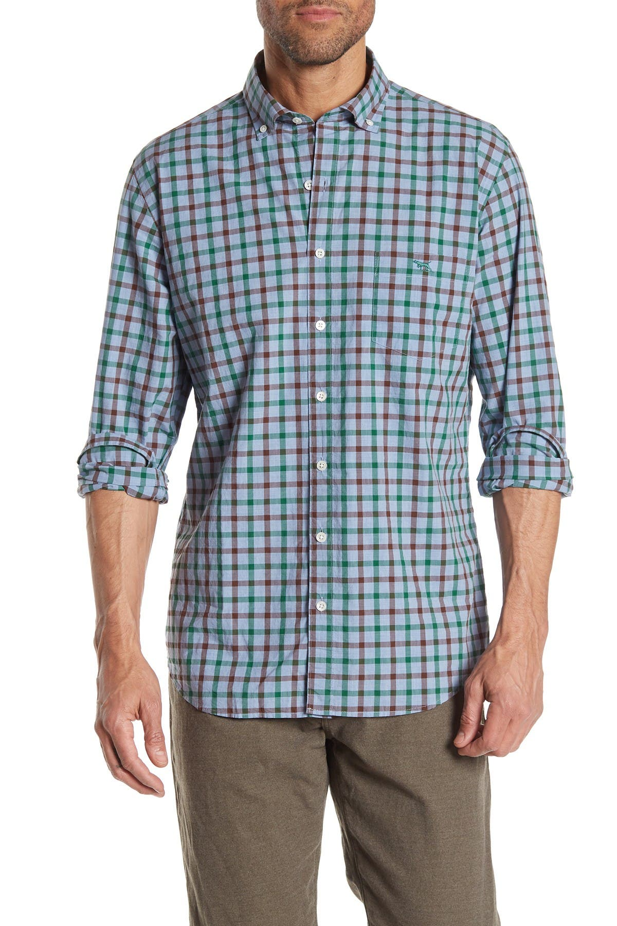 Image of RODD AND GUNN Hazlett Long Sleeve Button Front Shirt