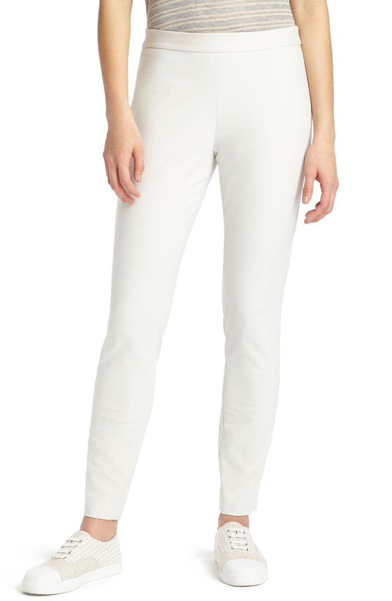 LAFAYETTE 148 NEW YORK Murray Crop Pants, Main, color, SEA SALT