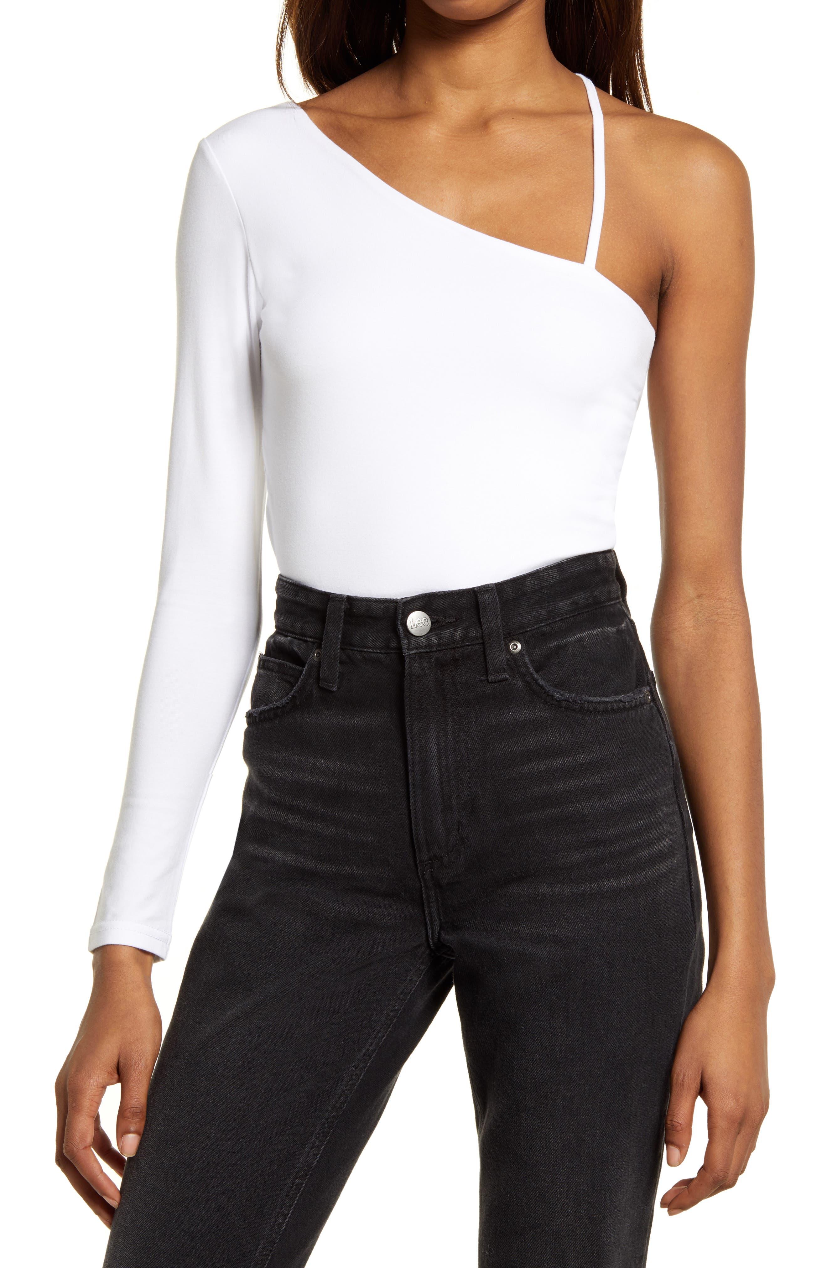 One-Shoulder Long Sleeve Bodysuit