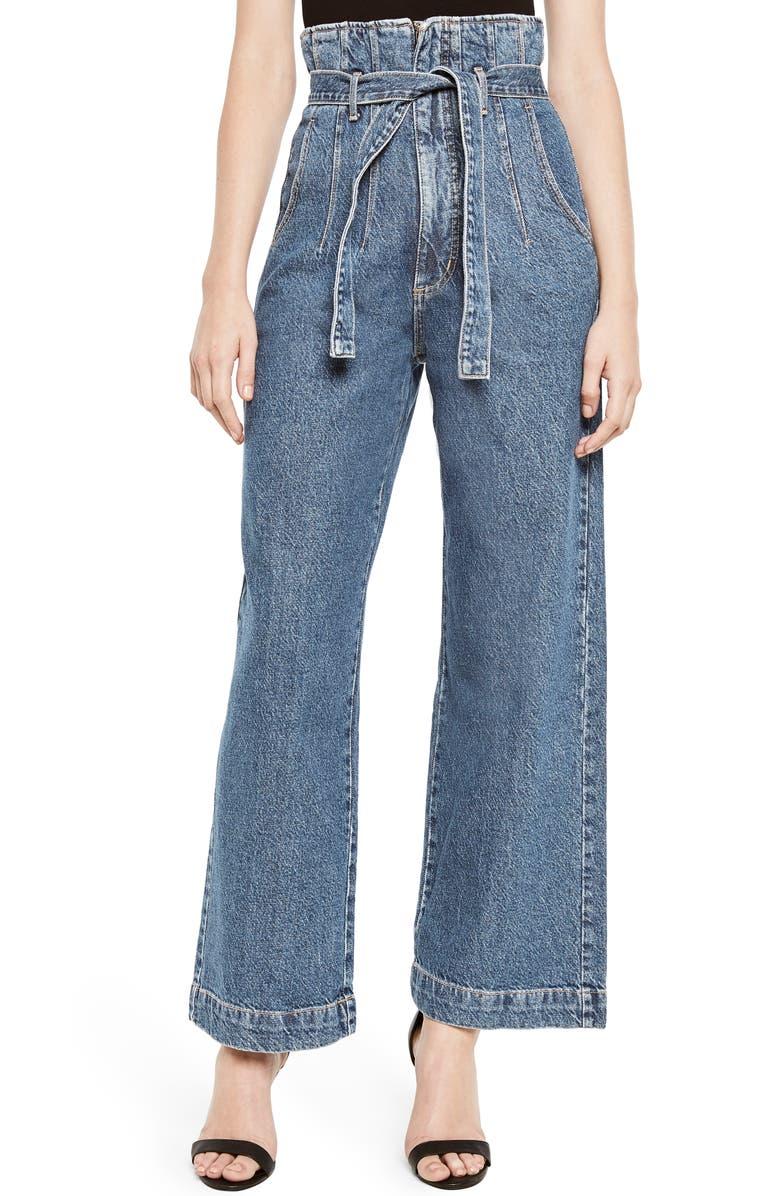 Bardot Paperbag Wide Leg Jeans Vintage