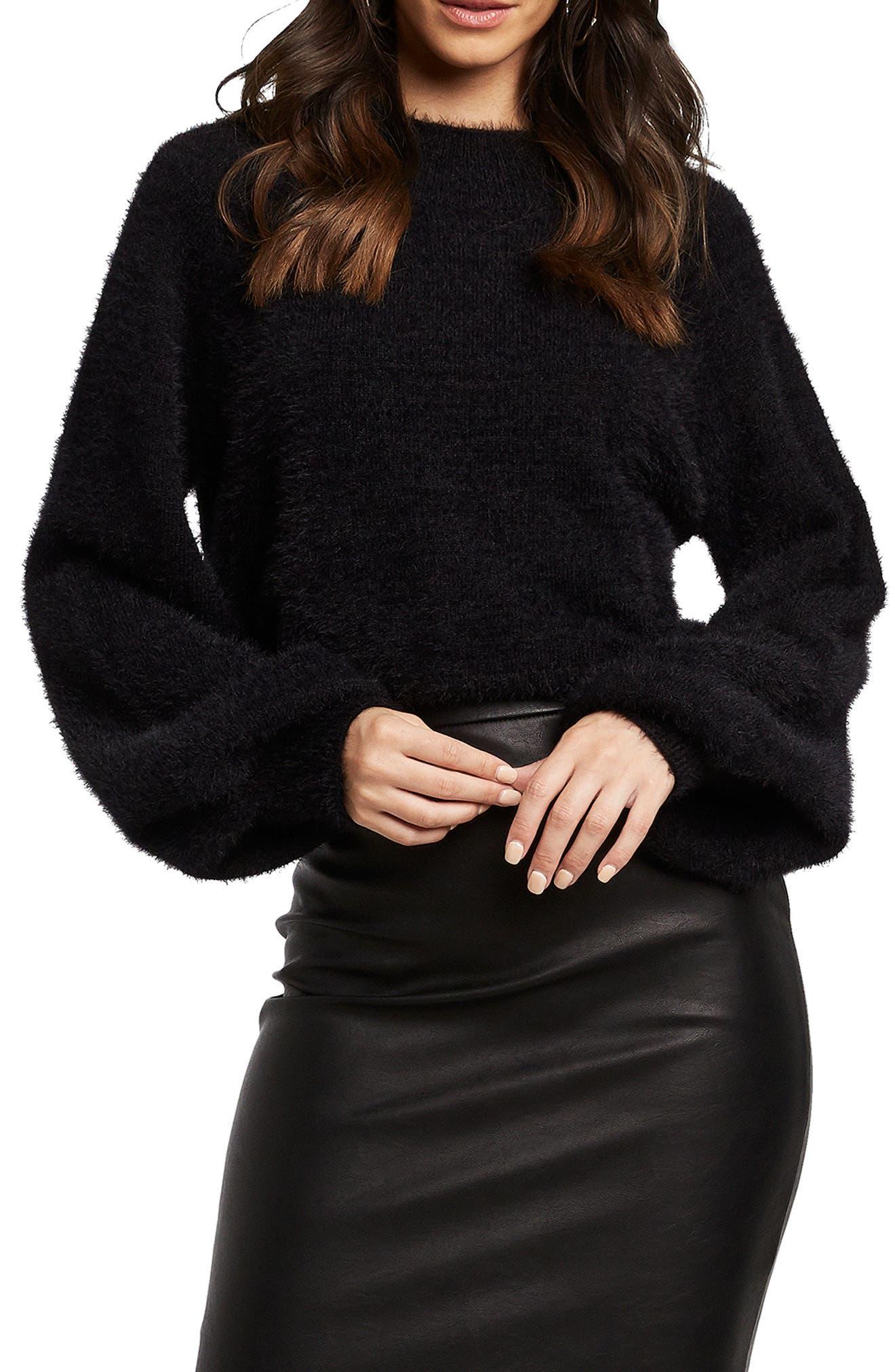 Fluffy Balloon Sleeve Sweater