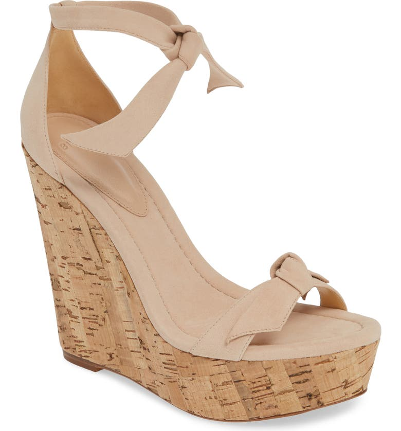 ALEXANDRE BIRMAN Clarita Wedge Sandal, Main, color, LIGHT SAND