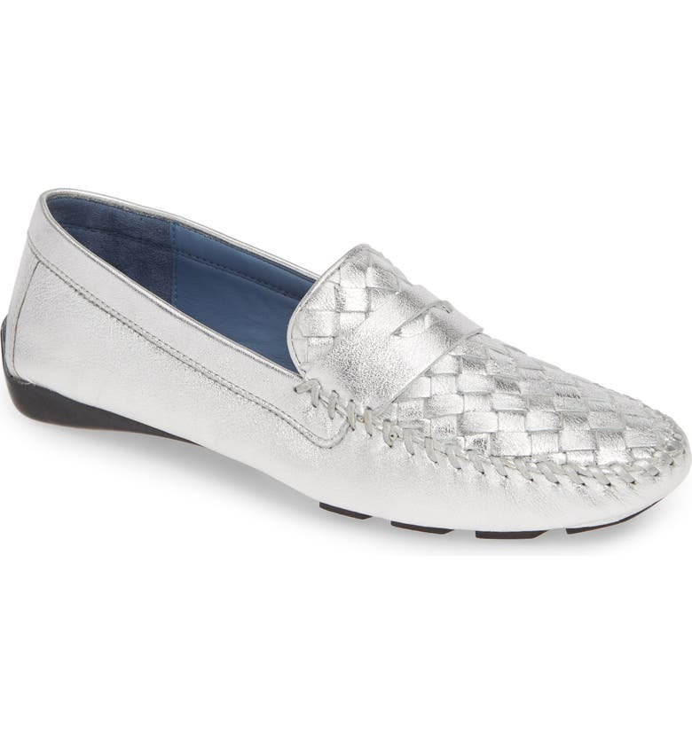 ROBERT ZUR 'Petra' Driving Shoe, Main, color, SILVER BRIGHT NAPPA