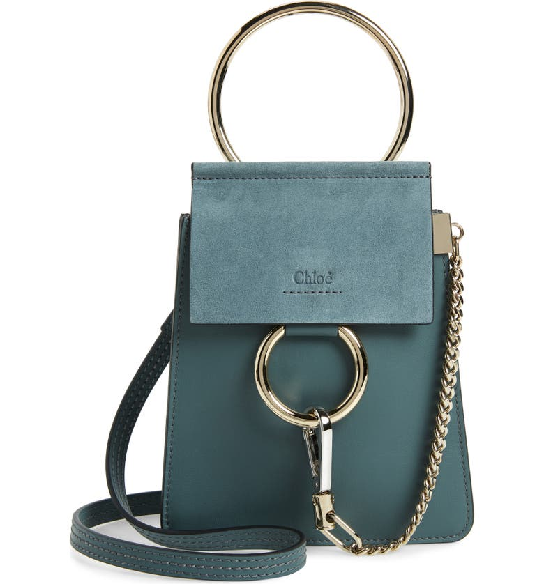 9e623ee1a4194 Faye Small Suede & Leather Bracelet Bag, Main, color, CLOUDY BLUE