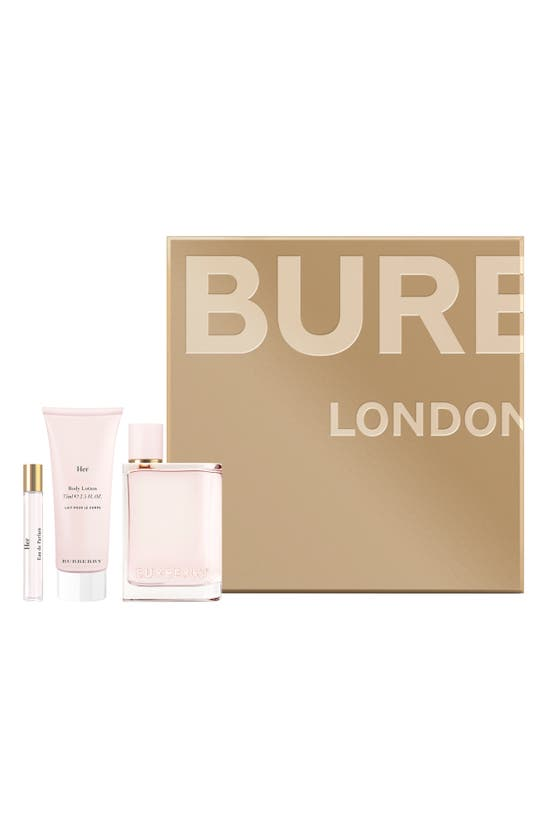 Burberry Her Eau De Parfum 3 Piece Gift Set ($173 Value)