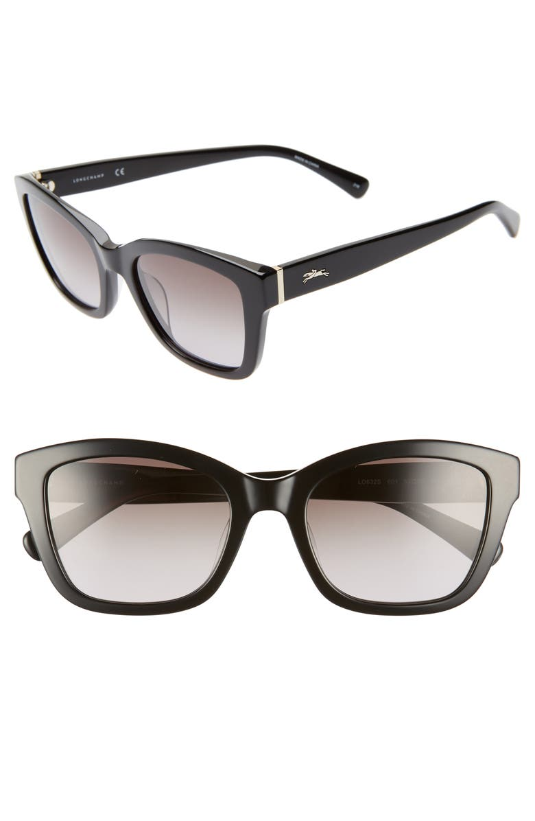 Longchamp Heritage 53mm Square Sunglasses