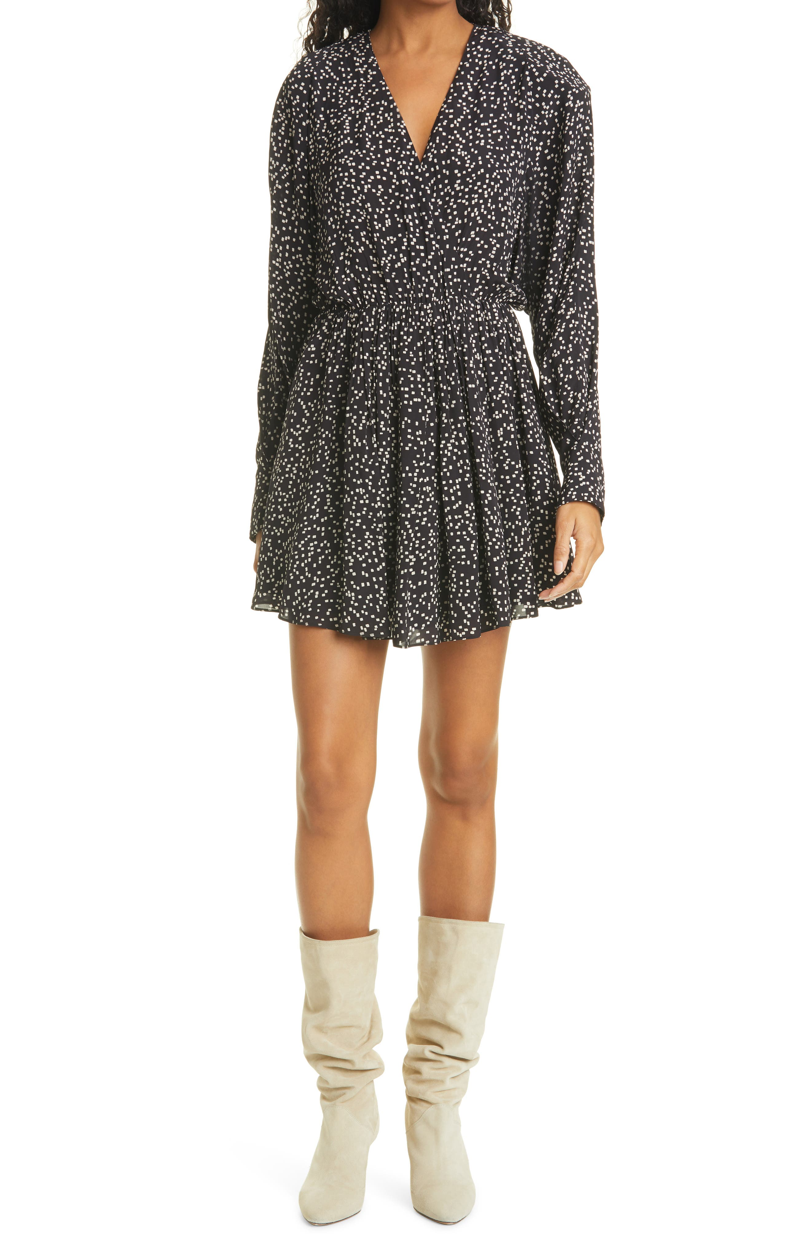 Women's Isabel Marant Etoile Capucine Square Dot Long Sleeve Dress