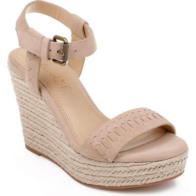 Splendid Shayla Woven Wedge Sandal- Brown
