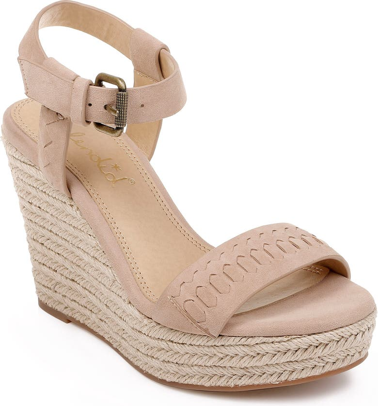 SPLENDID Shayla Woven Wedge Sandal, Main, color, WOOD SUEDE