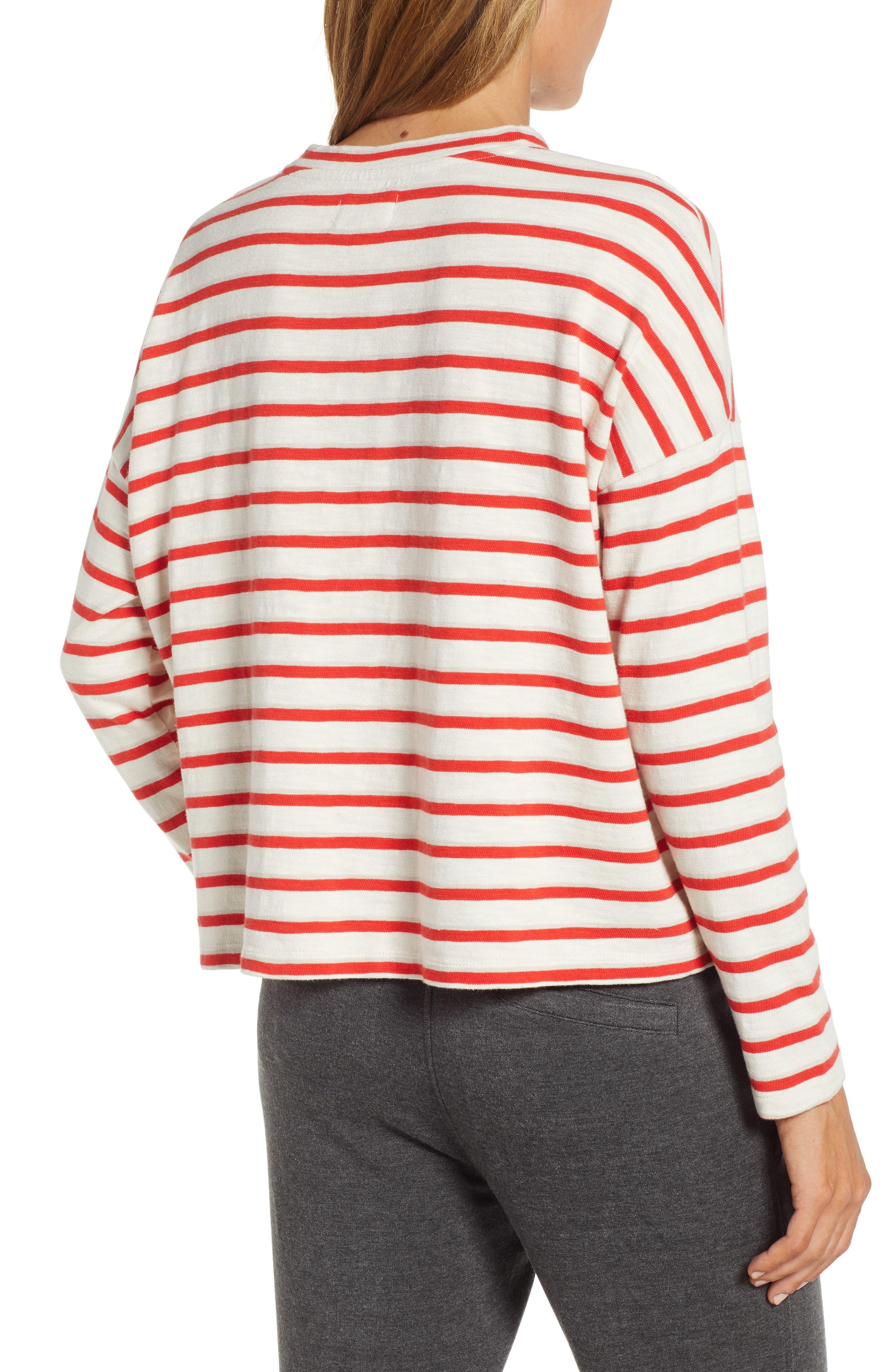,                             Bonnie Stripe Cotton Top,                             Alternate thumbnail 2, color,                             600