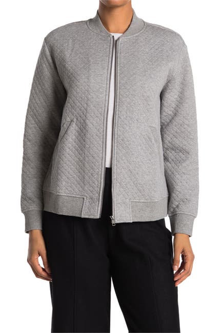 Image of Eileen Fisher Quilted Bomber Jacket