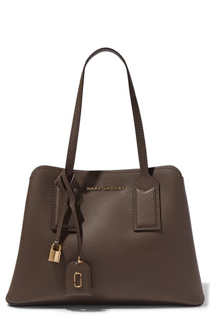 Marc Jacobs Totes THE EDITOR LEATHER TOTE - GREY